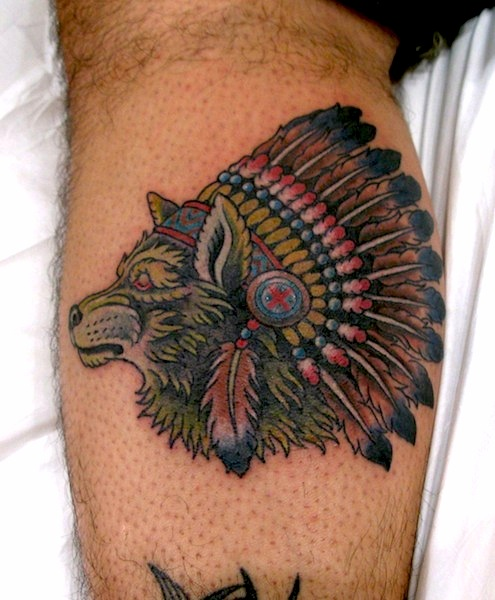 Tattoos Wolf Tattoos Headdress Tattoo: Eight Of Swords Tattoo