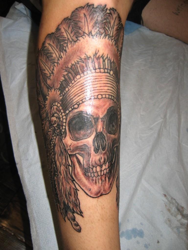 indian head dress eight of swords tattoo