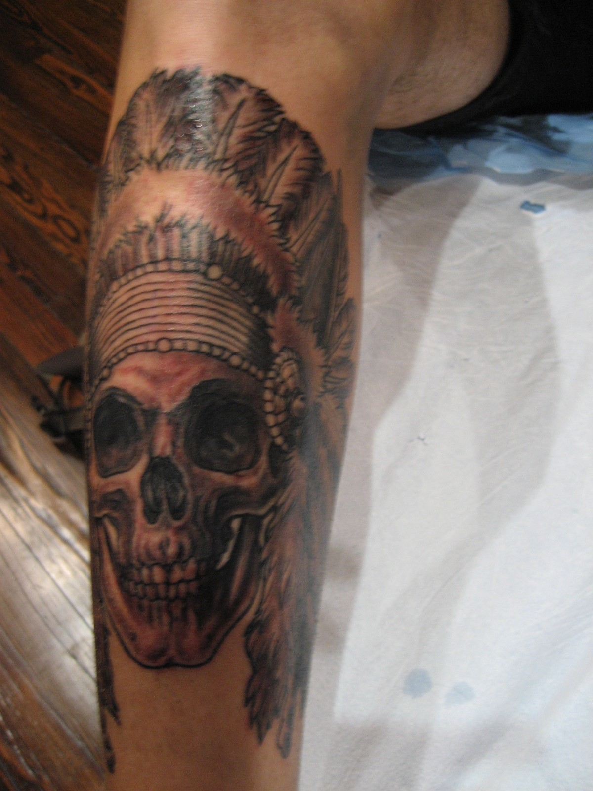Indian Chief Skull Tattoo Meaning Information Keywords And Pictures