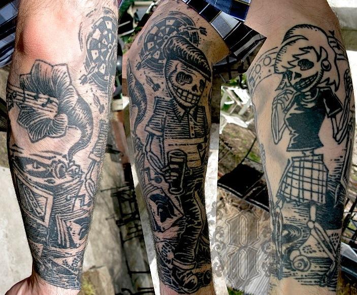 Doc Martens Eight Of Swords Tattoo