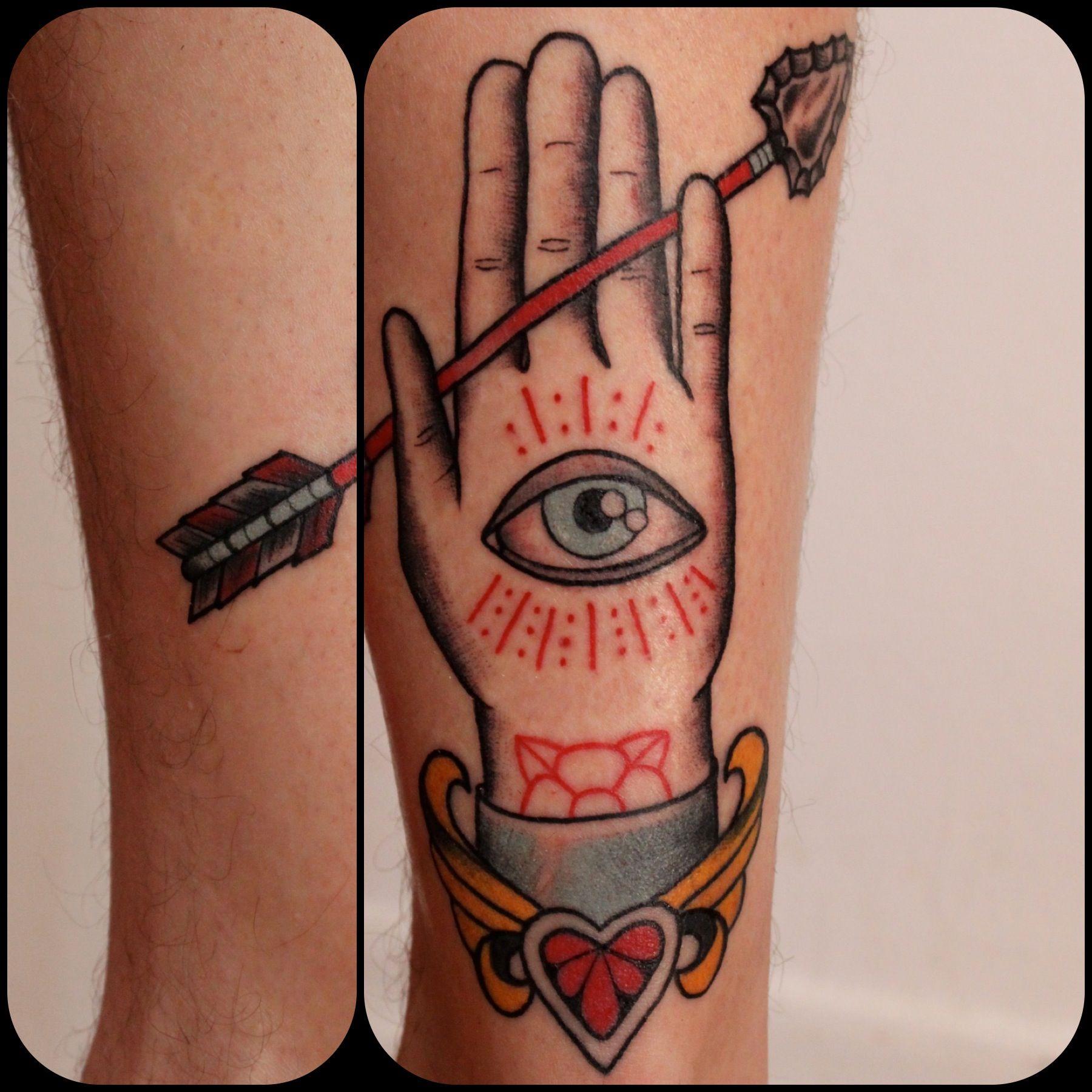 arrow tattoo   Eight of Swords Tattoo