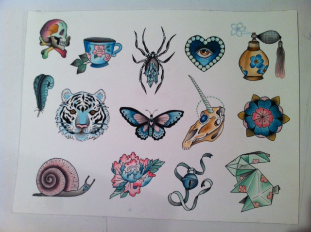 Never Stop Tattoo Flash Art